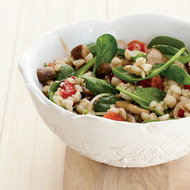 Food & Wine: Barley-and-Spinach Salad with Tofu Dressing