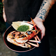 Food & Wine: Grilled Quick-Brined Jumbo Shrimp