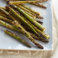 Food & Wine: Mustard-and-Mayonnaise Glazed Asparagus