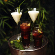 Food & Wine: Pomegranate Caipirinhas