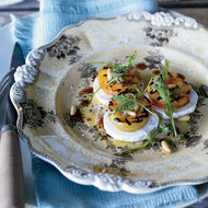 Food & Wine: Grilled Apricot, Arugula and Goat Cheese Salad