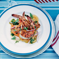 Food & Wine: Barbecued Spiced Shrimp with Tomato Salad