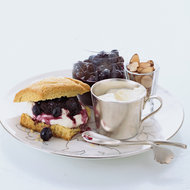 Food & Wine: Blueberry-Almond Shortcakes with Crème Fraîche