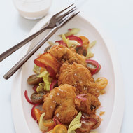 Food & Wine: Fried Chicken Liver, Bacon and Tomato Salad with Ranch Dressing