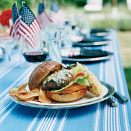 Food & Wine: Beef Burgers with Peanut-Chipotle Barbecue Sauce