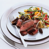 Food & Wine: Grilled Flank Steak with Corn, Tomato and Asparagus Salad