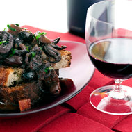Food & Wine: Red Wine-Braised Baby Octopus with Black Olives