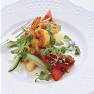 Food & Wine: Curried-Shrimp Salad with Grilled Watermelon