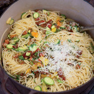 Food & Wine: Linguine with Tomatoes, Baby Zucchini and Herbs