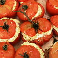 Food & Wine: Oven-Roasted Tomatoes Stuffed with Goat Cheese