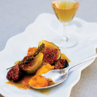 Food & Wine: Pan-Seared Apricots and Figs with Honey and Lavender