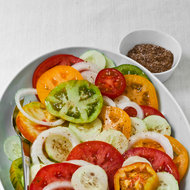 Food & Wine: Tomato, Cucumber and Sweet Onion Salad with Cumin Salt