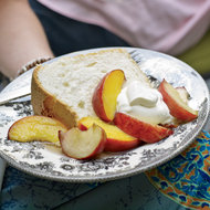 Food & Wine: Great-Grandmother Pearl's Angel Food Cake with Peaches