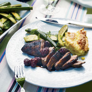 Food & Wine: Grilled Spiced Duck Breasts with Blackberries