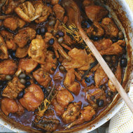 Food & Wine: Rabbit Stew with Olives and Rosemary