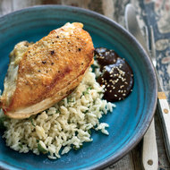 Food & Wine: Pan-Roasted Chicken Breasts with Mole Negro
