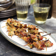 Food & Wine: Pancetta-Wrapped Mussels with Basil