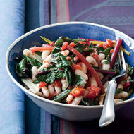 Food & Wine: Quick White Bean Stew with Swiss Chard and Tomatoes