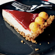 Food & Wine: Brown Butter Custard Pie with Cranberry Glaze