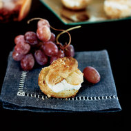 Food & Wine: Hazelnut Profiteroles with Blue Cheese and Grapes