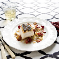 Food & Wine: Pan-Seared Black Sea Bass with Endives and Grapes