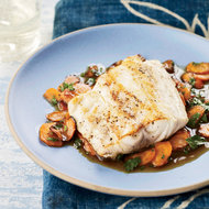 Food & Wine: Striped Bass with Sweet Carrots and Cider Glaze