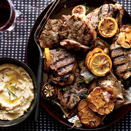 Food & Wine: Grilled Lamb Chops with Roasted Garlic