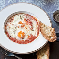 Food & Wine: Eggs Baked in Roasted Tomato Sauce