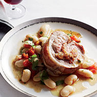 Food & Wine: Stuffed Veal Breast with Gigante Beans