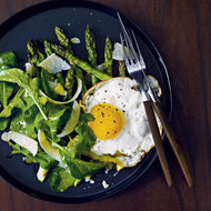 Food & Wine: Grilled Asparagus Salad with Fried Eggs