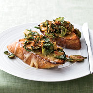 Food & Wine: Brussels Sprouts and Smoky Onions on Cheddar Toast