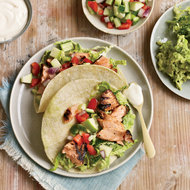 Food & Wine: Chipotle-Rubbed Salmon Tacos
