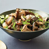 Food & Wine: Roasted Mushrooms and Shallots with Fresh Herbs