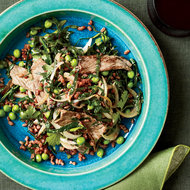 Food & Wine: Stir-Fried Red Rice with Sliced Sirloin Steak and Peas