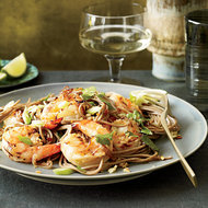 Food & Wine: Soba Noodles with Grilled Shrimp and Cilantro