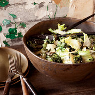 Food & Wine: Escarole and Roasted Broccoli Salad with Anchovy Dressing