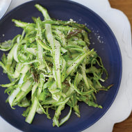 Food & Wine: Shaved Raw Asparagus with Parmesan Dressing