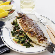 Food & Wine: Escarole-Stuffed Seared Trout