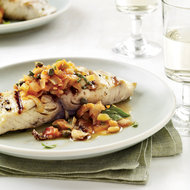 Food & Wine: Grilled Fish with Artichoke Caponata