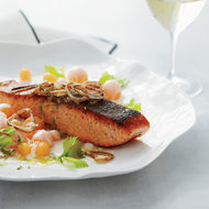 Food & Wine: Salmon with Cantaloupe and Fried Shallots