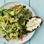 Food & Wine: Crunchy Vegetable Salad with Ricotta Crostini