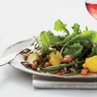 Food & Wine: Grilled Green Bean Salad with Lentil Vinaigrette