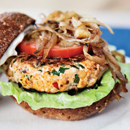 Food & Wine: Michelle's Turkey Burgers with Lemon Mayonnaise