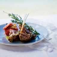 Food & Wine: Grilled Lamb Chops with Ladolemono