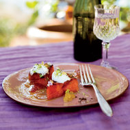 Food & Wine: Grilled Watermelon with Yogurt