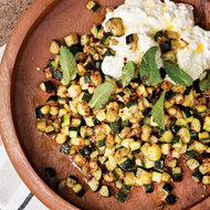 Food & Wine: Roasted Zucchini with Ricotta and Mint