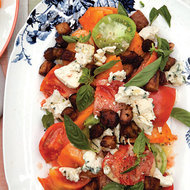 Food & Wine: Tomato Salad with Bacon, Blue Cheese and Basil