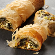 Food & Wine: Chard-and-Goat-Cheese Strudel with Indian Flavors