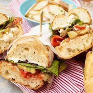 Food & Wine: Ratatouille and Goat Cheese Subs