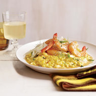 Food & Wine: Shrimp with Saffron Rice and Fennel Salad